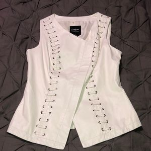 BeBe Genuine Leather Gorgeous Vest